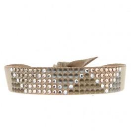 Bracelet triangle métal beige