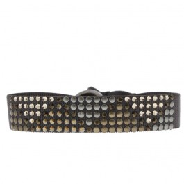Bracelet triangle métal marron Les Interchangeables