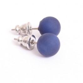 Navy blue resin earrings
