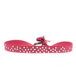 Bracelet pluie de strass rose bonbon