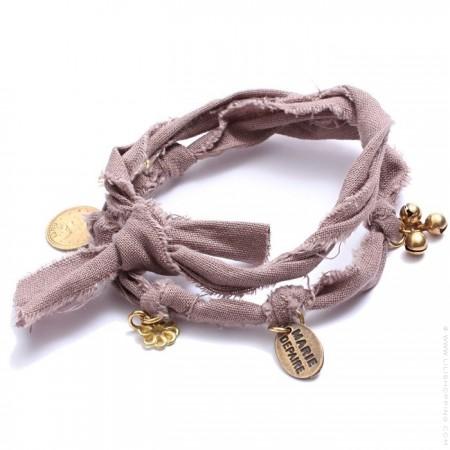 Bracelet doudou taupe