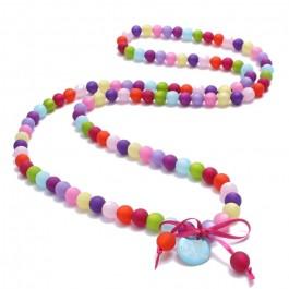 Multicolor beads long necklace by Zoe Bonbon