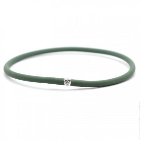 My first diamond kaki green bracelet