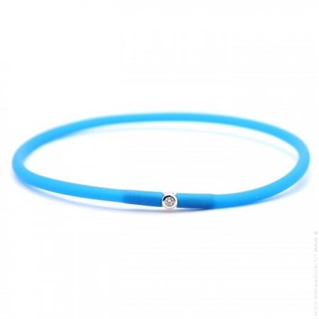 My first diamond electric blue bracelet