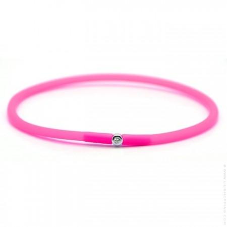 My first diamond neon pink bracelet