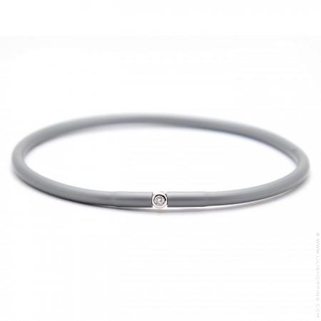 My first diamond liquid metal grey bracelet