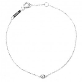 Bracelet or blanc 18 carats et diamant