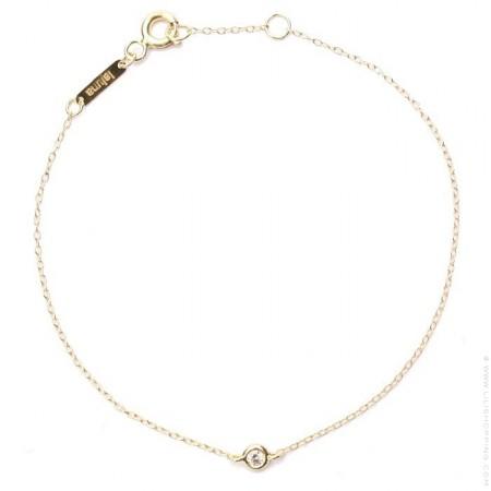 Bracelet or 18 carats et diamant laluna