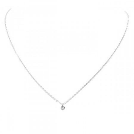 Collier or blanc 18 carats et diamant