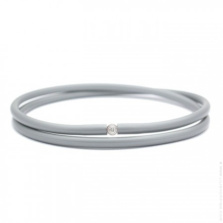 Bracelet My first diamond double lien gris