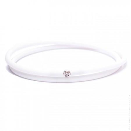 Bracelet My first diamond double lien blanc