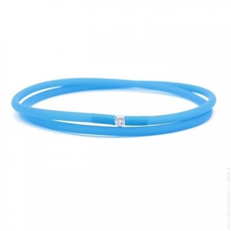 Bracelet My first diamond double lien bleu électrique