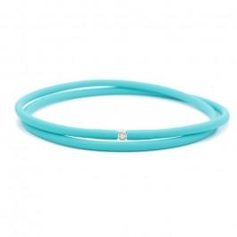Bracelet My first diamond double lien turquoise