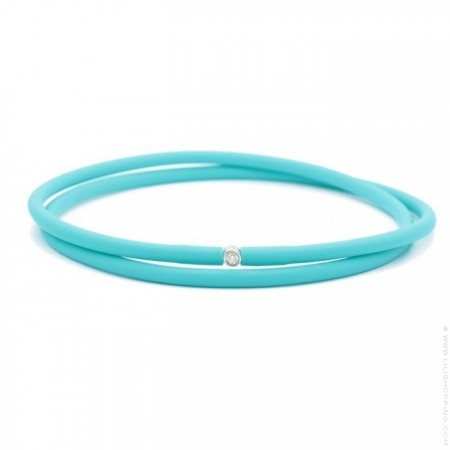 Bracelet My first diamond double lien turquoise