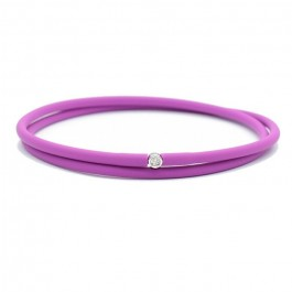 Bracelet My first diamond double lien violet
