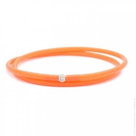 Bracelet My first diamond double lien orange