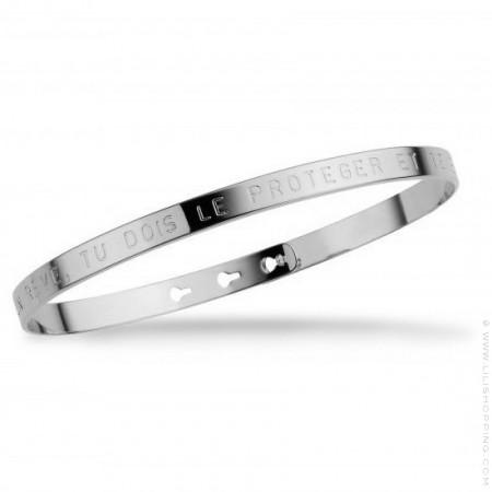 Si tu as un rêve tu dois le protéger silver platted bracelet
