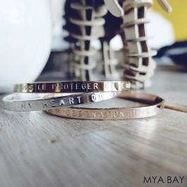 Bracelet Si tu as un rêve tu dois le protéger plaqué argent