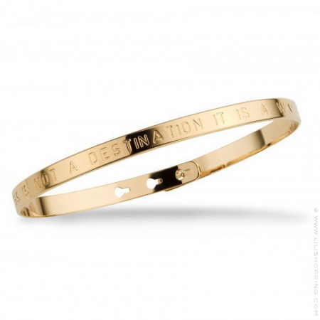 Happiness Is Not A Destination Gold Plated Bracelet