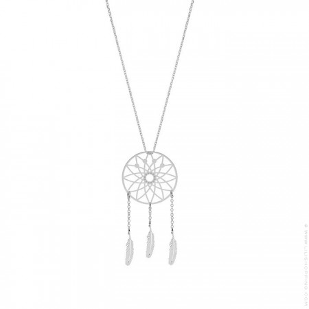 Dreamcatcher Silver Pendant Necklace