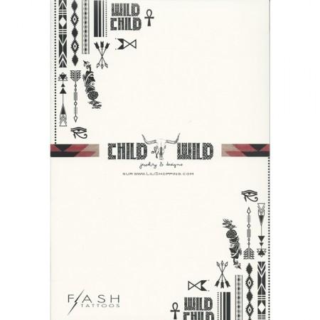 Set de tatouages éphémères Child of Wild Flash Tattoos