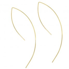 Wire arc gold platted earrings