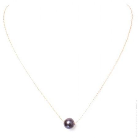 Collier perle plaqué or