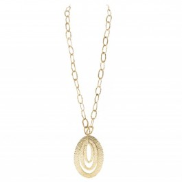 Hamered gold platted necklace