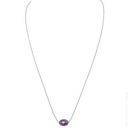 Collier améthyste violette à facettes