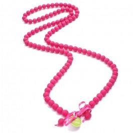 Fushia beads long necklace by Zoe Bonbon