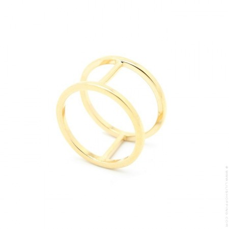Gold platted dubble ring