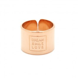 Dream Love Smile pink gold platted ring