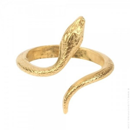 Bague serpent or