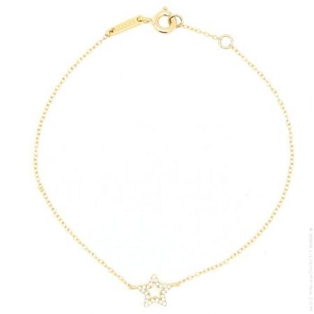 Bracelet or 18 carats et étoile en diamants Laluna