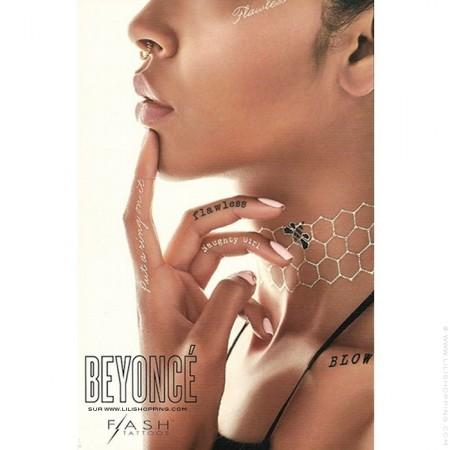 Set de tatouages éphémères Flash Tattoos x Beyonce