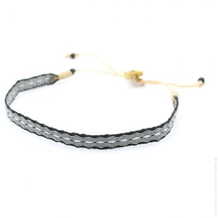 Bracelet Argentinas 120 argent et noir