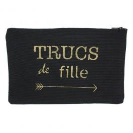 Black and gold trucs de fille flat pocket