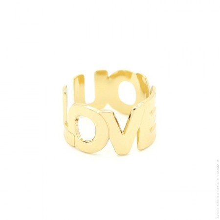 I LOVE YOU Gold Plated Ring