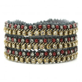 Burgundy antic gold bracelet