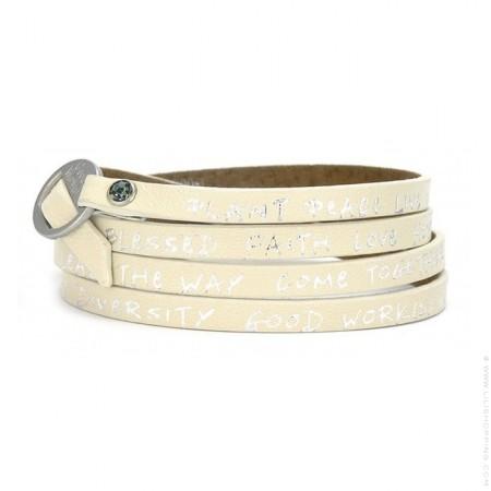 Bracelet Good Work(s) couleur ivoire
