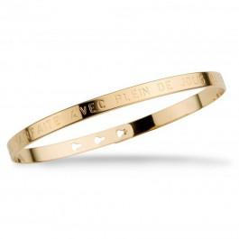 Je suis parfaite avec plein de jolis défauts gold platted bracelet