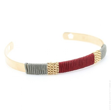 Gold platted woven bangle
