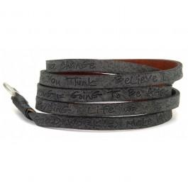 Black around eco wrap bracelet