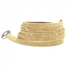 Tan around eco wrap bracelet