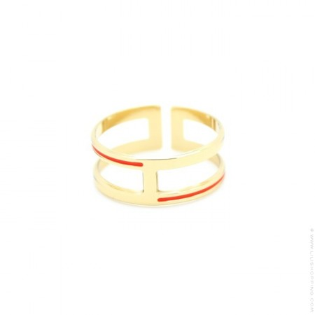 Bague Brighton orange corail Anne Thomas