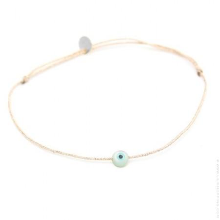 Eye on a lurex Bracelet