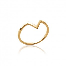Gold platted V ring
