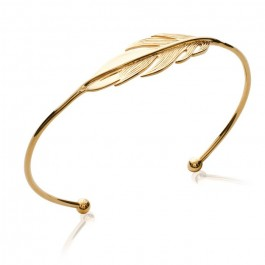 Gold platted feather bangle