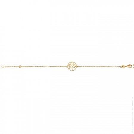 Bracelet arbre de vie plaqué or