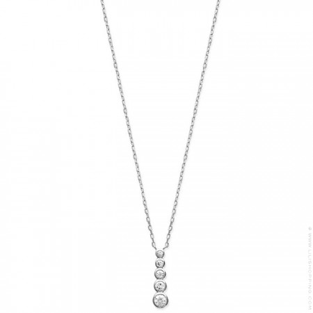 White zirconium silver necklace